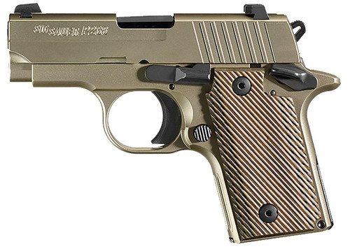 "SIG 238 380ACP, 2.7"" Barrel, Nickel Finish,Vector Grips, 6rd Mag"