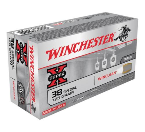 Winchester Clean 38 Special Jacketed Flat Point Tin Core 125gr 50rd Box