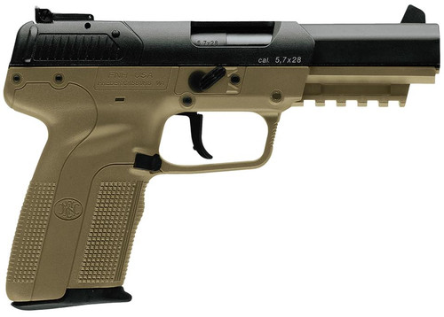 "FN Five-Seven 5.7X28mm 4.8"" Adjustable 3-Dot Sights, Flat Dark Earth, 20 Round"