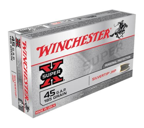 Winchester Super X 45 GAP Silvertip HP 185gr, 50Box/10Case