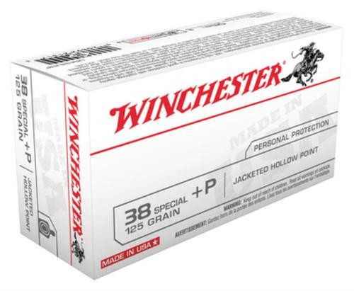 Winchester USA .38 Special 125 Gr, JHP, 50rd Box