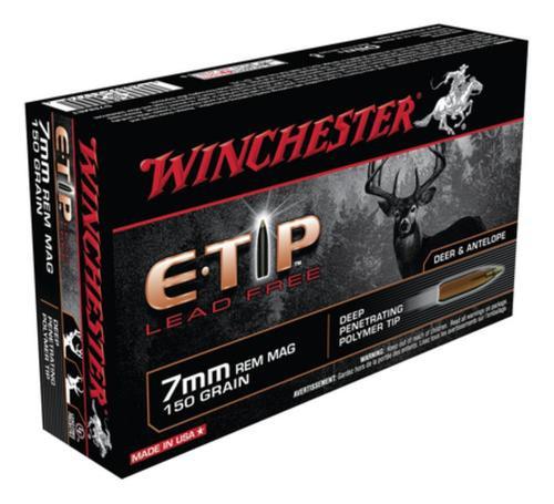 Winchester E-Tip Lead-Free 7mm Rem Mag 150 Grain E-Tip Lead Free