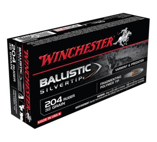 Winchester Ballistic Silvertip .204 Ruger, 32gr, 20rd Box