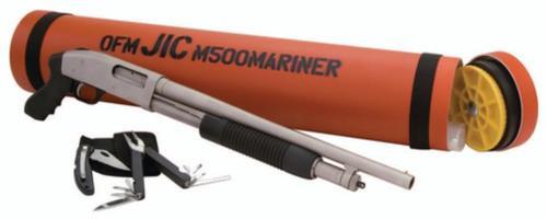 Mossberg 'Just In Case' Shotgun Package, Marinecoat, Orange Tube