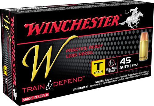 Winchester Train & Defend, 45 ACP, 230 Gr, FMJ, 50rd/box