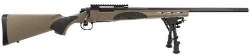 "Remington 700 VTR, Bolt Action, 22-250 Remington, 22"" Barrel, Black, Flat Dark Earth Synthetic Stock, Bi-Pod, 4Rd"