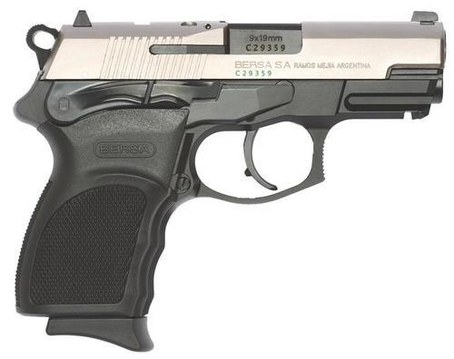 "Bersa Thunder Pro Ultra Compact DA/SA 9mm 3.3"" Barrel, Poly Grip Black/Nickel, 10rd"