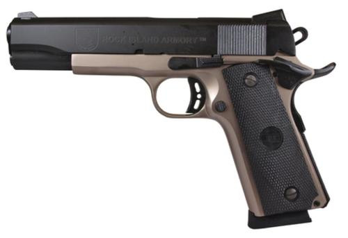 """Rock Island Armory M1911-A1 Tactical 45 ACP 5"""" Two-Tone 8 Round"""