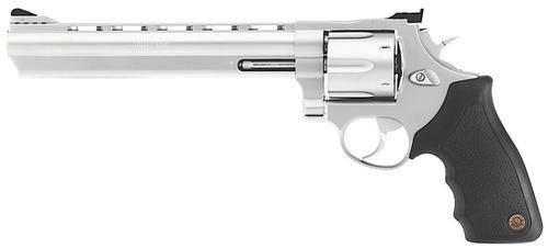 """Taurus Model 44 .44 Mag, 8.38"""" Barrel, Rubber Grip, Matte SS, 6rd"""