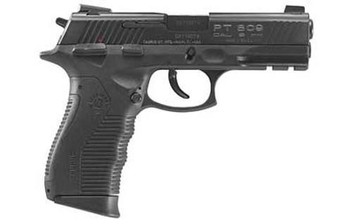 "Taurus 809 9mm, 4"" Barrel Novak 3 Dot Sites Blued, 17rd Mag"