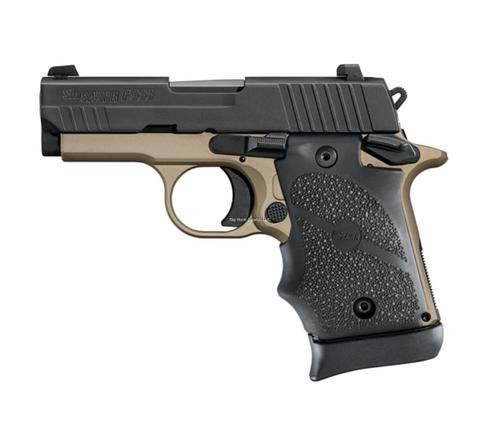 "Sig P938 Semi Auto Pistol 9mm, 3"" Barrel, Desert Hogue Grip, 7rd Mag"