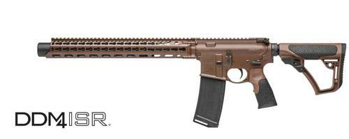 "Daniel Defense DDM4 ISR 300 Blackout 16"" Integral Suppressor Milspec+ Dark Brown"