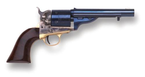 "Cimarron 1872 Open Top Navy .38 Spl & Colt 5.5"" Barrel Standard Blue Finish Walnut Grip"