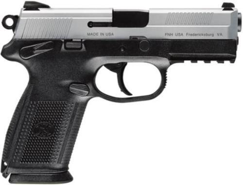 "FN FNX-9 DA/SA 9mm 4"" Barrel, 3-Dot 3 Mags Black Polymer Grip SS Slide, 17rd"