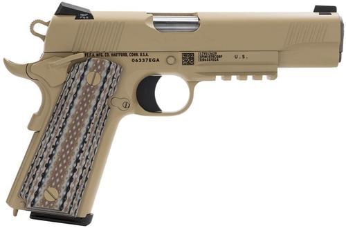 "Colt Marine CQBP M45-A1 SA 45 ACP 5"" Barrel, Novak 3Dot Desert Tan G10 Grip, 7rd"
