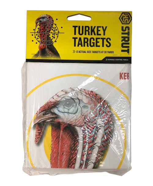 "Hunters Specialties Turkey Pattern Targets, 11""x11"", 12 Pack"