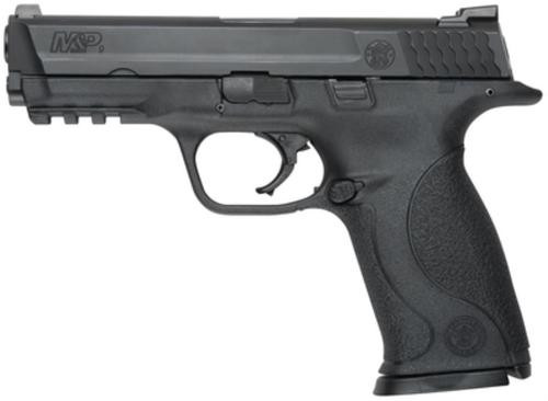 """Smith & Wesson, M&P, Full Size, 9mm, Striker Fired, 4.25"""" Barrel, Polymer Frame, Black, Low Profile Carry Sights, 10Rd, 2 Magazines, No Thumb Safety"""