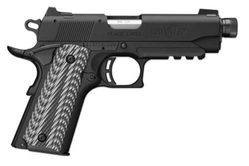 "Browning 1911-22 Black Label Suppressor Ready 22LR 4.25"" Threaded Barrel G-10 Grips 10rd Mag"