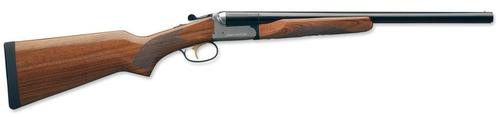 Stoeger Coach Gun Supreme SxS, AA-Grade Gloss Walnut, Blue/Stainless Receiver 20 Ga, 20