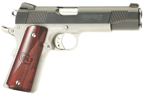 "Colt 1911 XSE Combat Elite 45ACP 5"" Barrel Two-Tone Finish Rosewood Grips 8 Rd Mag"