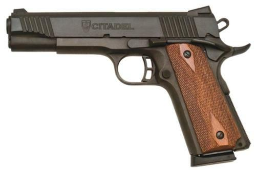 "Citadel 1911 Government, 2 Mags, Wood Grips 45 ACP 5"" Barrel, Black Parkerized Finish, 8rd Mag"