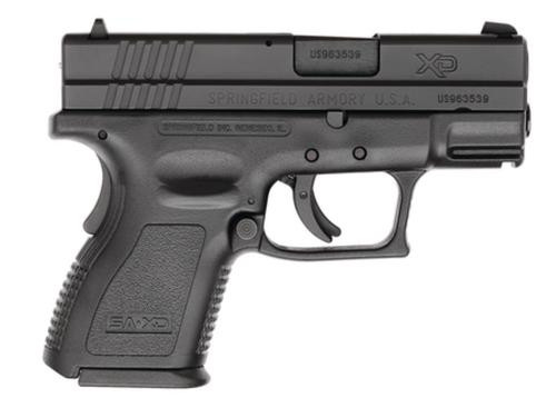 Springfield XD 9mm, 3 Inch, Black, 2006 package, Trijicon Night Sights, One 10 rd, One 16 rd Mag