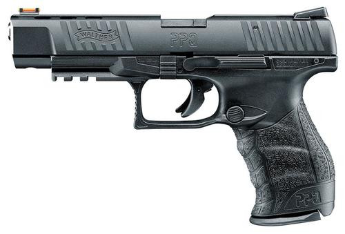 "Walther PPQ M2 .22 L.R. 5"" Black 10 Round, Fiber Optic Front Sight 1 Mag"
