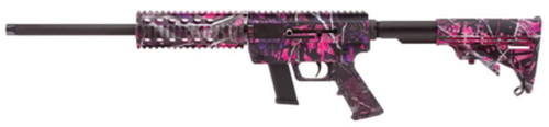 """Just Right Carbine 9mm 16.25"""" Threaded Barrel Collapsible Stock Muddy Girl Finish Quad Rail Forend Fixed 10rd Glock Magazine - CA Compliant"""