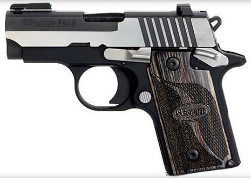 "Sig P238 380 ACP 2.7"" Equinox 2-Tone SAO TFO Front/Siglite Rear Blackwood Grip 6rd Mag"