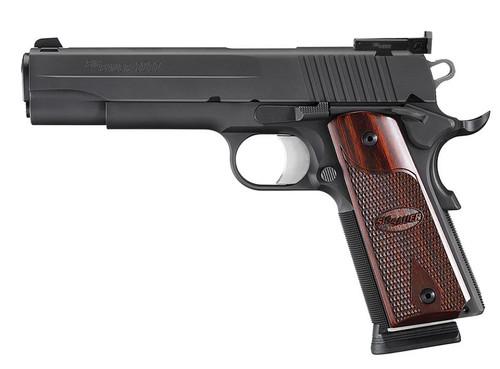 SIG 1911 Target *MA Comp 45 ACP 5 8+1 AS Rosewood Grip Black