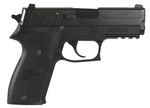 Sig P220 45 ACP 3.9In Nitron Black Da/Sa Siglite E2 Grip (2) 8RD Steel MAG CA Compliant