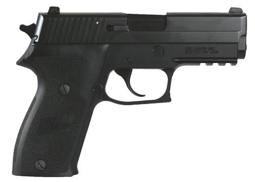 *D*Sig P220 45 ACP 3.9In Nitron Black Da/Sa Siglite E2 Grip (2) 8RD Steel MAG CA Compliant