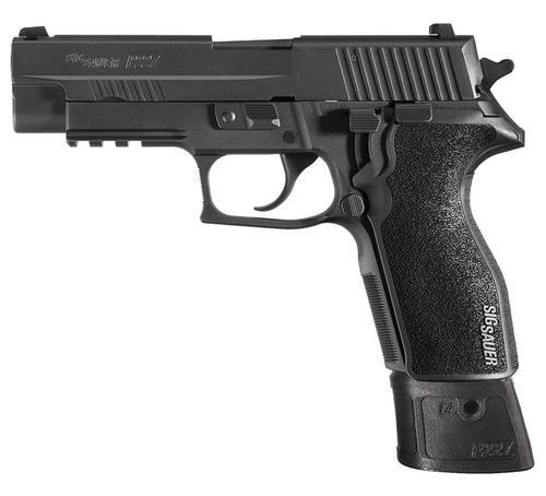 Sig P227 45 ACP 4.4In TAC OPS Black Da/Sa Siglite G10 Magwell Grip (4) 14Rd Steel MAG SRT