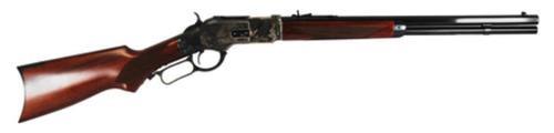 "Cimarron Firearms Model 1873 Short Rifle With Checkered Pistol Grip .357 Magnum 20"" Octagon Barrel Blue Finish Walnut Stock 10rd"