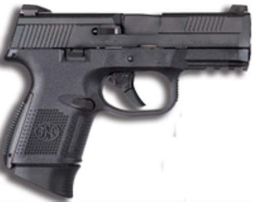 "FN FNS Compact .40 S&W 3.6"" Barrel Black Slide Fixed 3-Dot Sights No Manual Safety 14rd"