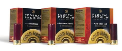 "Federal Competition Gold Medal 12 GA, 2.75"", 1-1/8oz, 7.5 Shot, 250rd/Case"