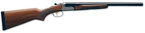 "Stoeger Coach Gun Supreme Sxs, AA-Grade Gloss Walnut, Blue/Stainless Receiver 12 Ga, 20"" Barrel"