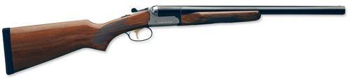 """Stoeger Coach Gun Supreme SxS, AA-Grade Gloss Walnut, Blue/Stainless Receiver 12 Ga, 20"""" Barrel"""