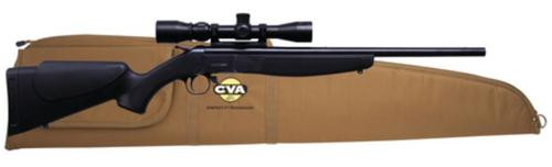 """CVA Hunter Compact Package .243 20"""" Blued Barrel Black Synthetic Stock With KonusPro Riflescope and Case"""
