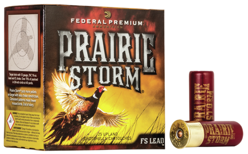 "Federal Premium Prairie Storm FS Lead 20 Ga, 3"", 1300 FPS, 1.25 oz, 6 Shot, 25rd/Box"