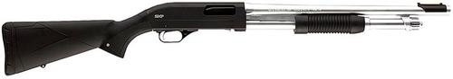 "Winchester Super X Pump Marine Defender 12 Ga 18"" Hard Chrome Finish, Black Synthetic Stock"