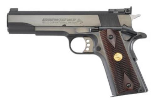 "Colt 1911 Gold Cup National Match, 5"" 45 ACP, Adjustable Sights, Blue"