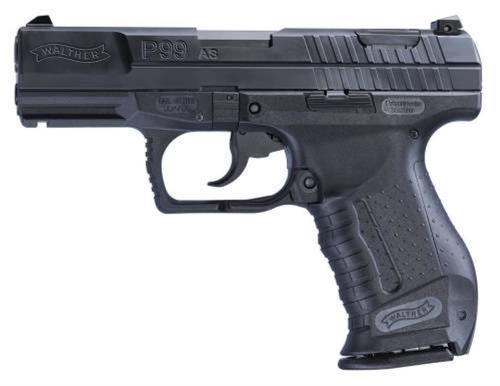 "Walther P99 Adj Sights 9mm 4"" Barrel Black 10rd Mag Mass Compliant"