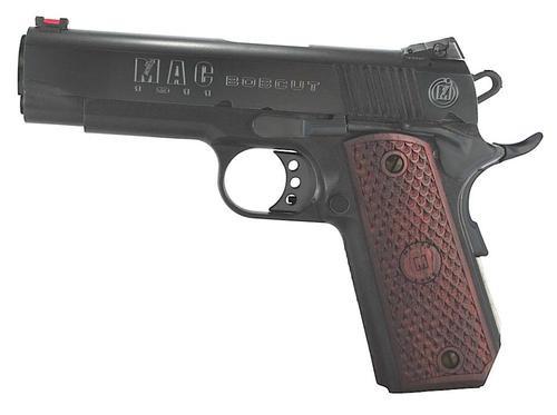 "Metro Arms 1911 Bobcut Single 45 ACP 4.3"" Barrel, Hardwood, Logo Blued, 8rd"