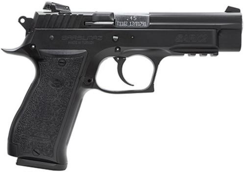 EAA Sarsilmaz SAR K2 45ACP Black, Adjustable Sights, Rail, 14 Rd Mag