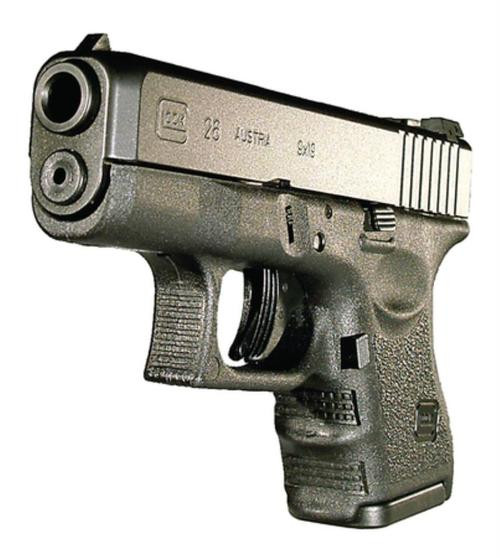 """Glock, 26, Semi-automatic, Striker Fired, Sub-Compact, 9mm, 3.43"""", Black, 10Rd, 2 Mags, Fixed Sights, Polymer, Matte"""