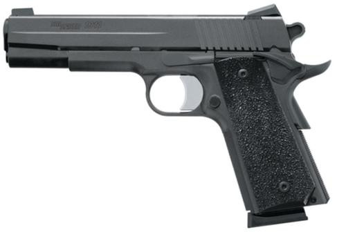 "Sig 1911 45 ACP, 5"" Barrel, XO Black SAO Contrast Sights Black Polymer Grip (2) 8RD Steel MAG"
