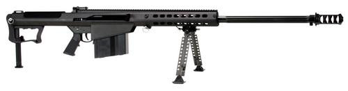 "Barrett, M107A1, Semi-automatic, 50BMG, 29"" Fluted Barrel, Black, Synthetic Stock, 10Rd, Bipod"