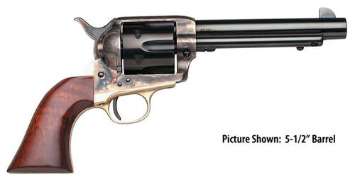 "Taylors 1873 Ranch Hand 357 Magnum 4.75"" 6rd Walnut CH Frame Blued"
