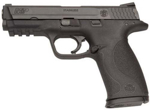 "Smith & Wesson, M&P, Semi-automatic Pistol, Full Size, 9mm, 4.25"" Barrel, Polymer Frame, Black, Fixed Sights, No Internal Lock or Magazine Safety, 17Rd, 2 Magazines"